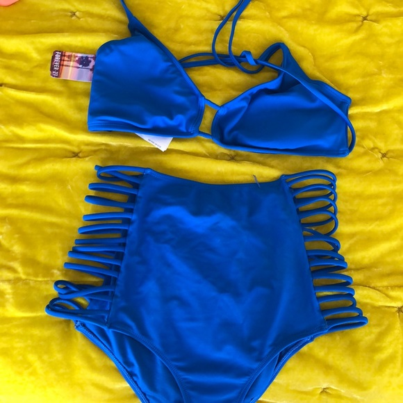 Forever 21 Other - HOST PICK 🎉NEW Cobalt Blue 2 piece bikini